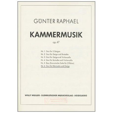 Raphael, G.: Duo Nr.6