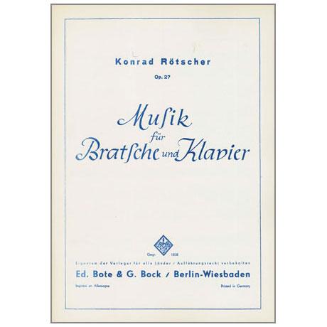 Rötscher, K.: Musik Op.27