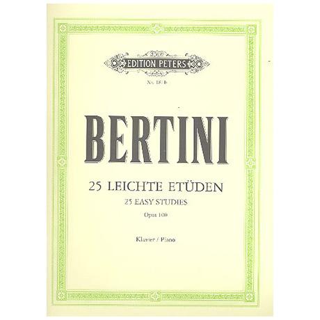 Bertini: 25 Leichte Etüden ohne Oktaven Op.100