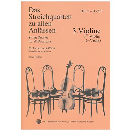 Das Streichquartett zu allen Anlässen Band 3 – Violine 3