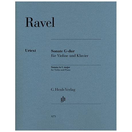 Ravel, M.: Violinsonate G-Dur