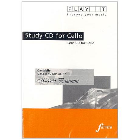 Paganini, N.: Cantabile D-Dur op. 17 Play-Along-CD (nur CD)