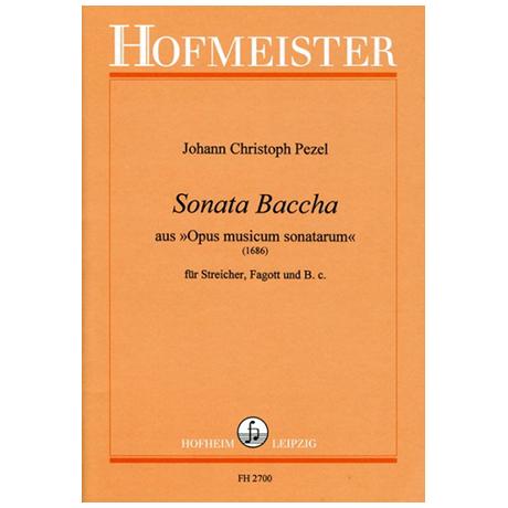 Pezel, J.: Sonata Baccha aus »Opus musicum sonatarum«