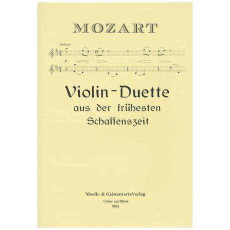 Mozart, W. A.: Violin-Duette aus der frühesten Schaffenszeit
