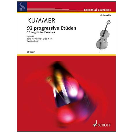 Kummer, F. A.: 92 progressive Etüden Op. 60 Band 1 (Nr. 1-57)