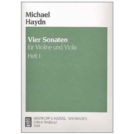 Haydn, M.: 4 Violasonaten Band 1 (Nr.1-2)
