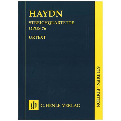 Haydn, J.: Streichquartette Op. 76/1-6 »Erdödy-Quartette« – Partitur