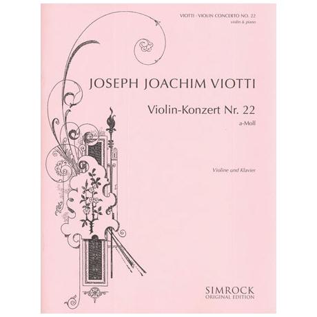 Viotti, G.B.: Violinkonzert Nr. 22 a-Moll