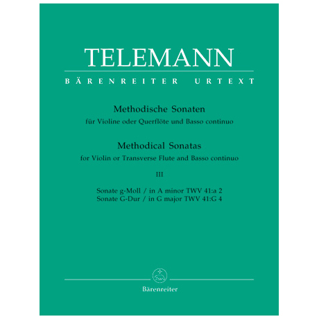 Telemann, G. Ph.: Methodische Sonaten – Band 3