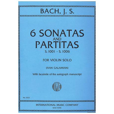 Bach, J. S.: 3 Sonaten und 3 Partiten BWV 1001-1006 (Galamian)