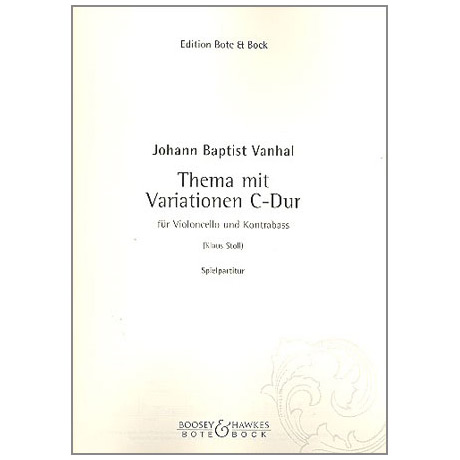 Vanhal, J. B.: Thema mit Variationen C-Dur