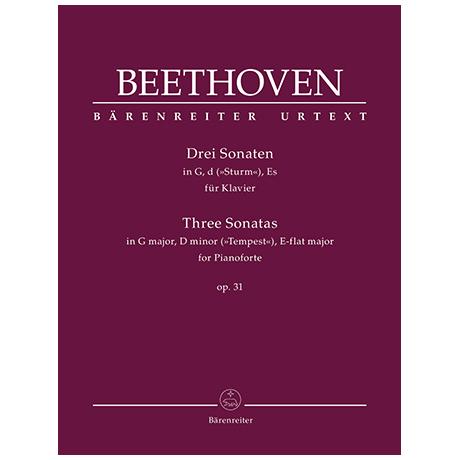 Beethoven, L. v.: Drei Sonaten Op. 31 G-Dur, d-Moll »Sturm«, Es-Dur