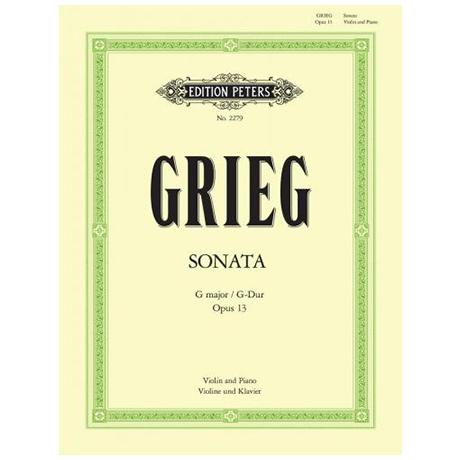 Grieg, E.: Violinsonate Nr. 2 Op. 13 G-Dur