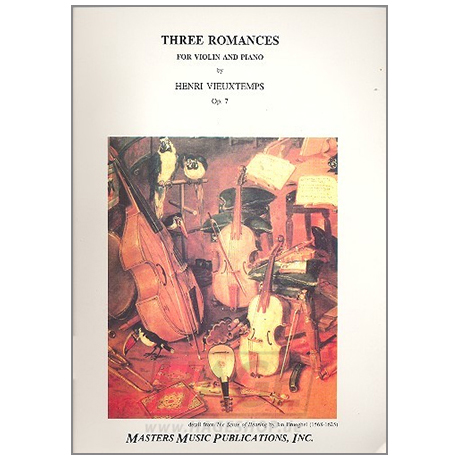 Vieuxtemps, H.: 3 Romanzen ohne Worte Op. 7