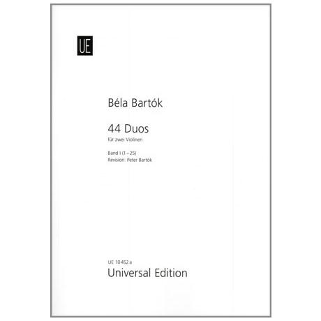 Bartok, Bela: 44 Duos Band 1