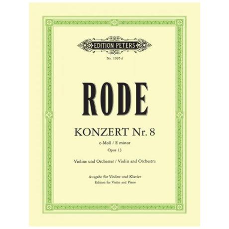 Rode, P.: Konzert Nr. 8 e-Moll