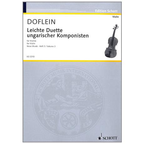 Doflein: Ungarische Komponisten: Leichte Duette (Seiber, Bartók, Kardosa)