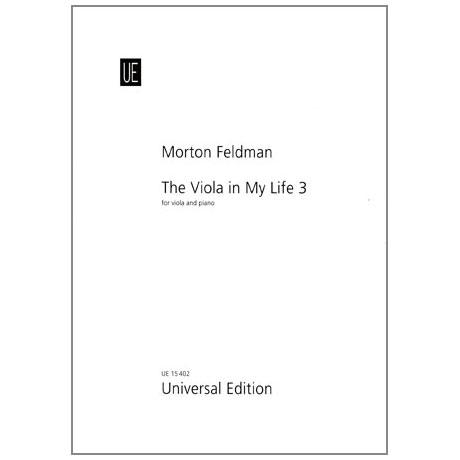 Feldman, M.: The Viola in my Life III