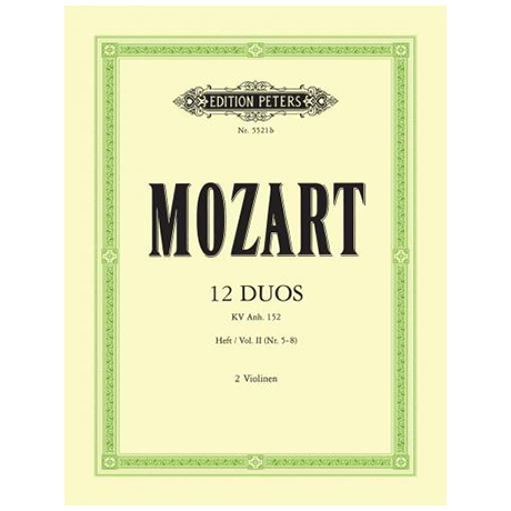 Mozart, W. A.: 12 Duos, Band 2 KV Anh. 152