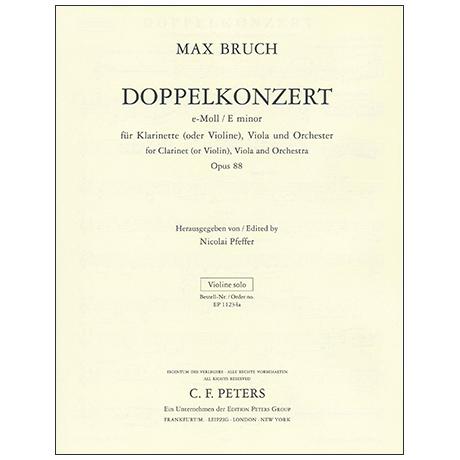 Bruch, M.: Doppelkonzert Op. 88 e-Moll – Violinstimme