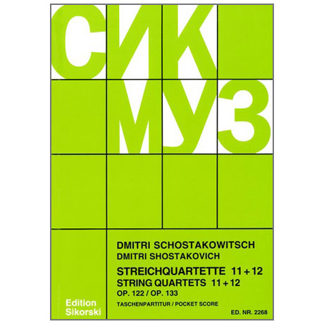 Schostakowitsch, D.: Streichquartette Nr. 11 und 12