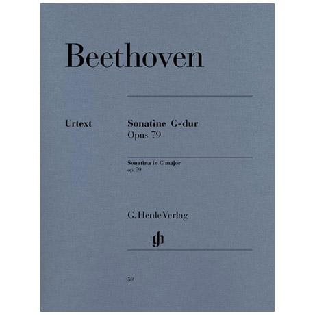 Beethoven, L. v.: Klaviersonate (Sonatine) Nr. 25 G-Dur Op. 79
