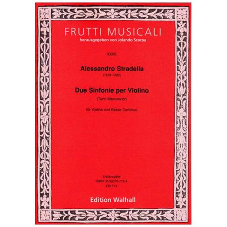 Stradella, A.: Sinfonie per Violino solo e Basso – Bd.3 (Turin)