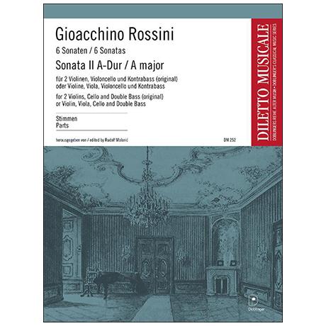 Rossini, G. A.: Sonata Nr. 2 A-Dur – Stimmen