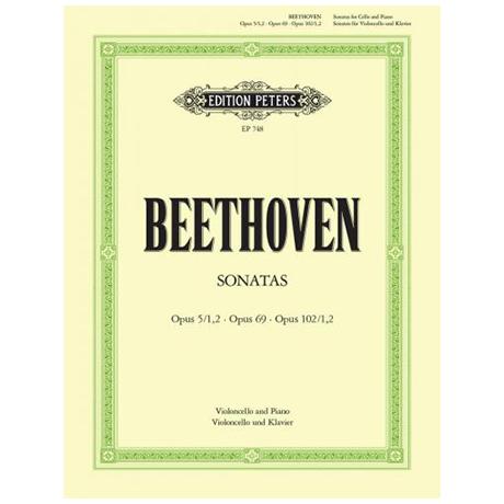 Beethoven, L. v.: Violoncellosonaten Op. 5/1-2 / Op. 69 / Op. 102/1-2