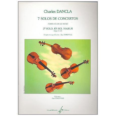 Dancla, J. B. Ch.: Solo de concerto sol majeur Op. 77/2