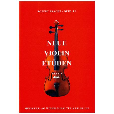 Pracht, Robert: Neue Violinetüden op.15 Band 3