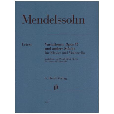 Mendelssohn, B. F.: Variationen Op. 17 Urtext