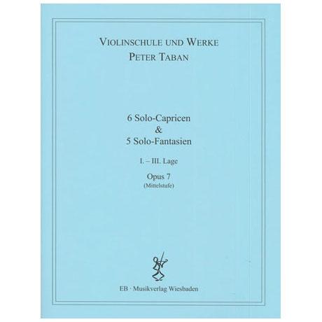 Taban, P.: Op. 7: 6 Solo-Capricen & 5 Solo-Fantasien