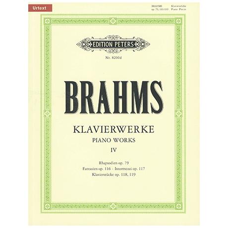 Brahms, J.: Klavierstücke Op. 79, 116-119