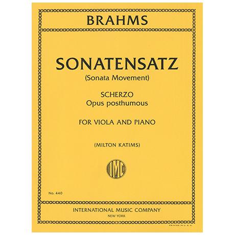 Brahms, J.: Sonatinensatz und Scherzo Op.posth.