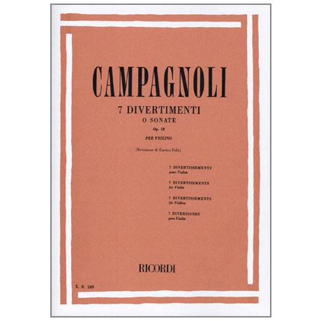Campagnoli, B.: 7 Divertimenti oder Sonate Op.18