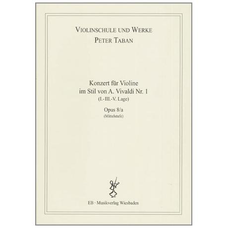 Taban, P.: Op. 8/a: Konzert im Stil von A. Vivaldi Nr. 1