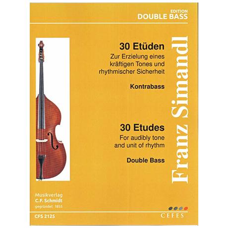 Simandl, F.: 30 Etüden für Kontrabass