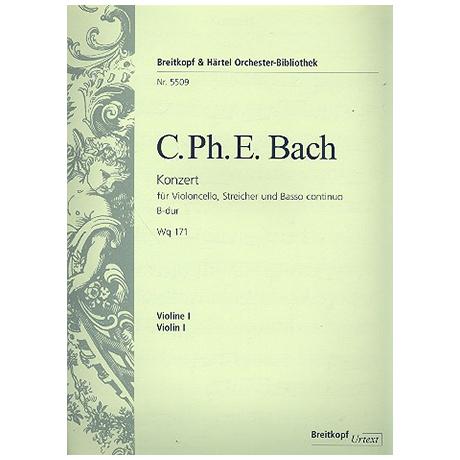 Bach, C. P. E.: Violinkonzert Wq 171 B-Dur