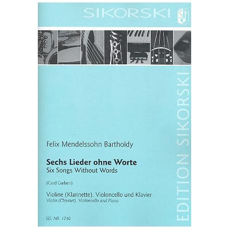 Mendelssohn Bartholdy, F.: 6 Lieder ohne Worte