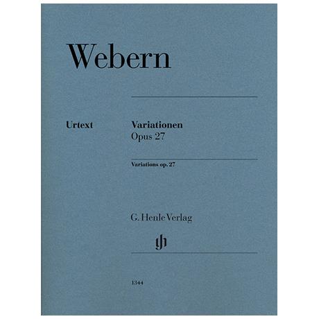 Webern, A.: Variationen Op. 27