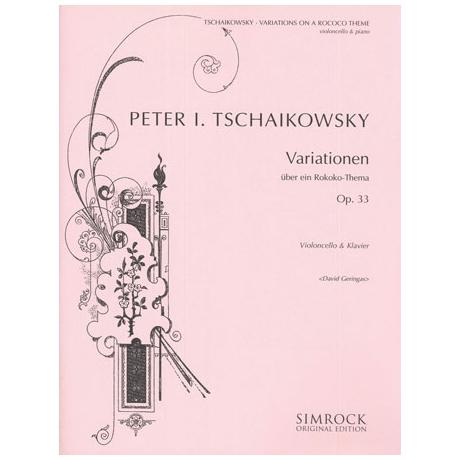 Tschaikowski, P. I.: Variationen über ein Rokoko-Thema Op. 33