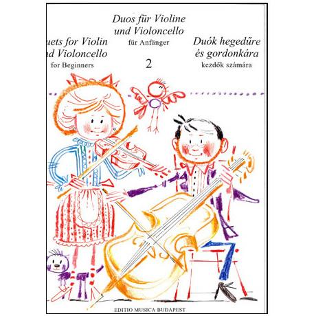 Pejtsik, A. / Vigh, L.: Duos für Violine und Violoncello Band 2