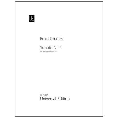 Krenek, E.: Sonata Nr. 2 Op. 115