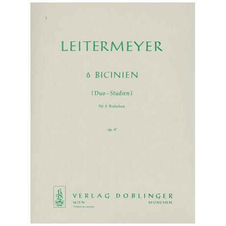 Leitermeyer, F.: 6 Bicinien Op.47