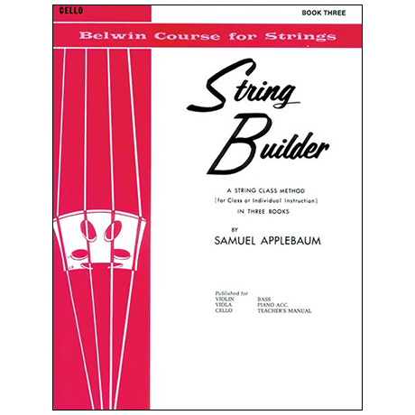 Applebaum, S.: String Builder Book Three – Cello