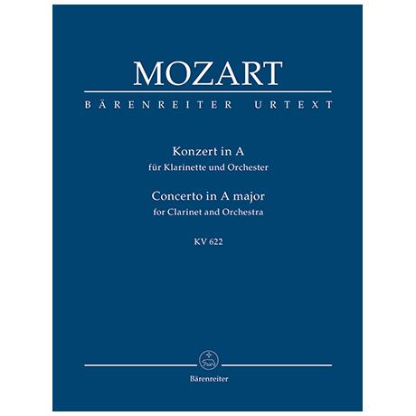 Mozart, W. A.: Konzert für Klarinette und Orchester A-Dur KV 622