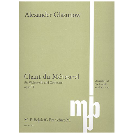 Glasunow, A.: Chant du Ménestrel Op. 71
