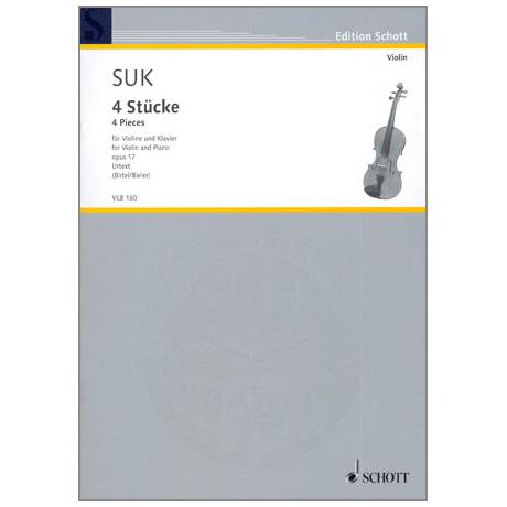 Suk, J.: 4 Stücke Op. 17
