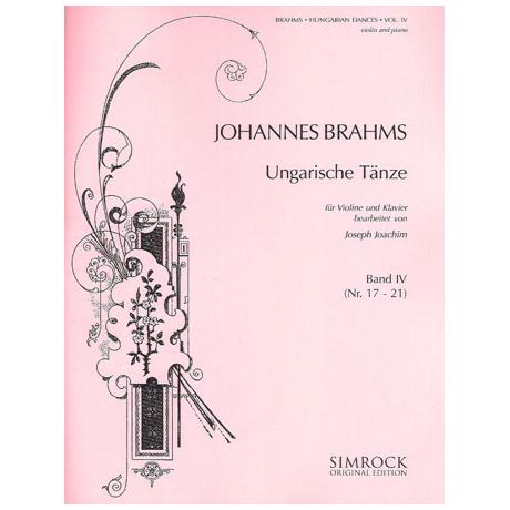 Brahms, J.: Ungarische Tänze Band 4 (Joachim)